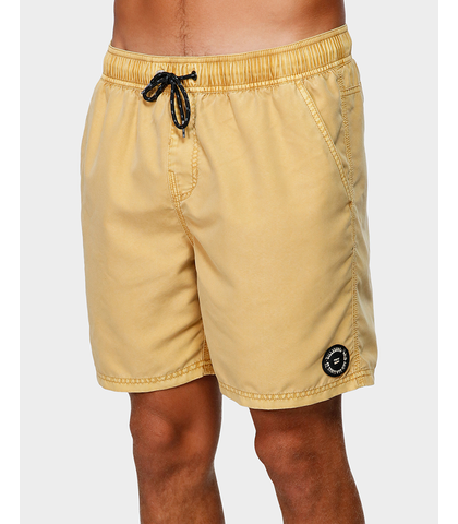 BILLABONG MENS ALL DAY OVERDYE LAYBACK BOARDSHORT - NECTAR