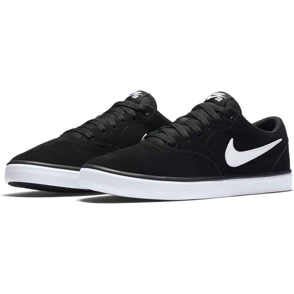 d4caeb44f6c NIKE SB - CHECK SOLARSOFT SHOE - BLACK WHITE SUEDE - Footwear-Shoes ...