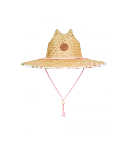 ROXY LADIES PINA TO MY COLADA PRINTED STRAW HAT - WHITE HERBIER