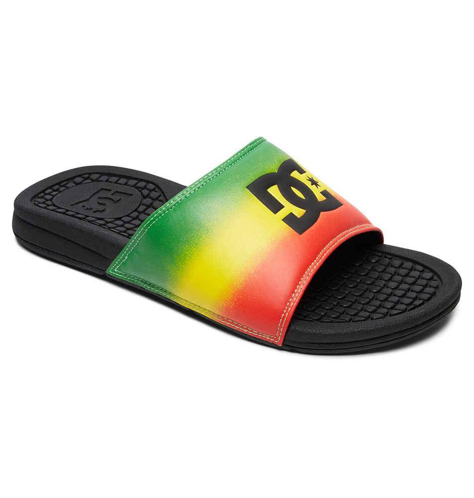 bb02029a36c03 DC BOLSA SLIDE - RASTA - Footwear-Slides   Sequence Surf Shop - DC S18