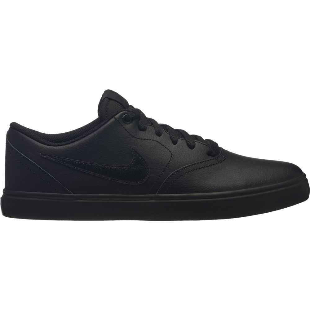 nike shoes black leather