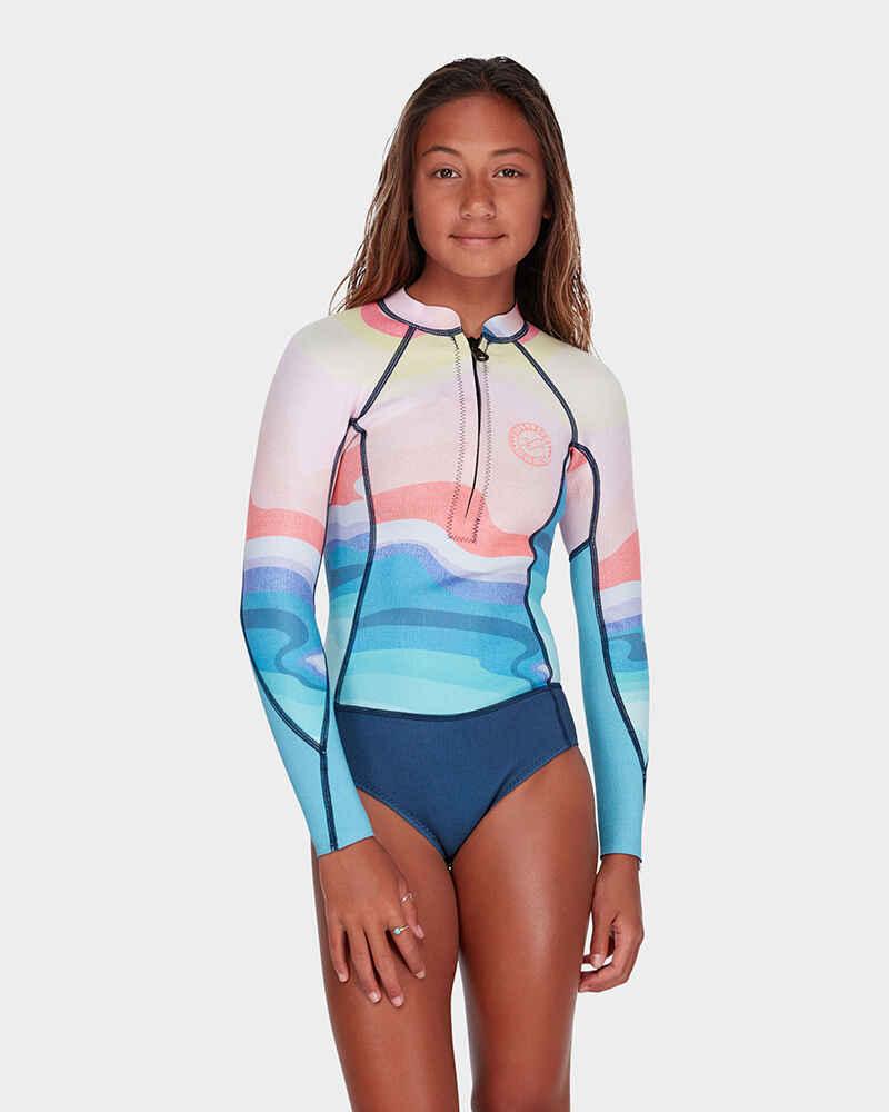 40a65a0479 BILLABONG TEEN GIRLS- SALTY DAYZ - 2MM L S SPRINGSUIT - MIRAGE -  Wetsuits-Girls   Sequence Surf Shop - BILLABONG GIRLS S18