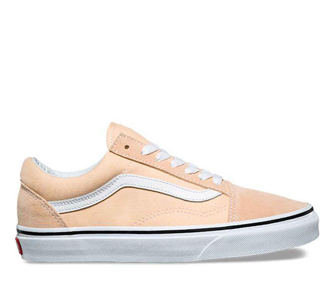 c502b55351 VANS OLD SKOOL SHOE - BLEACHED APRICOT TRUE WHITE - Footwear-Shoes    Sequence Surf Shop - VANS S18