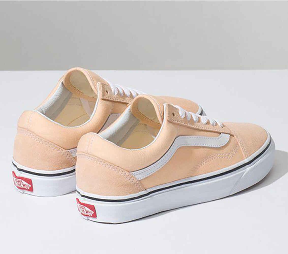 VANS OLD SKOOL SHOE - BLEACHED APRICOT TRUE WHITE - Footwear-Shoes ... ca8416e8c