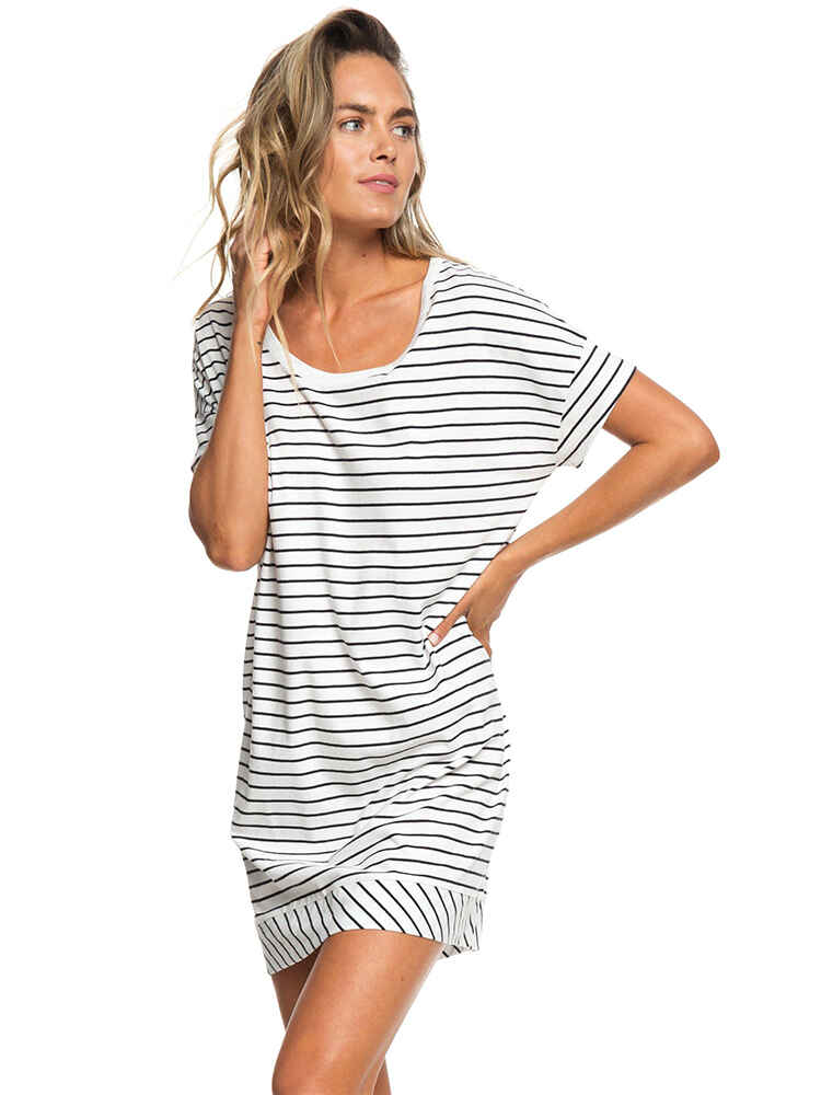 1c7fa8537a78 ROXY LADIES ATUH BEACH DRESS - BLACK ROMANTIC STRIPES - Womens-Dresses    Sequence Surf Shop - ROXY S18