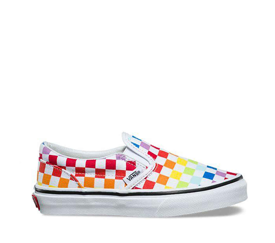 1f45eb0d054d4b VANS KIDS CLASSIC SLIP ON - CHECKERBOARD RAINBOW - Footwear-Youth Shoes    Sequence Surf Shop - VANS S18