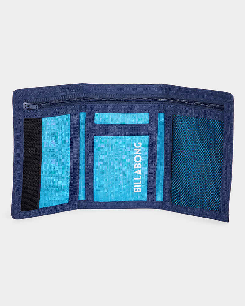 f4aed6113718 BILLABONG ATOM TRIFOLD WALLET - NAVY - Mens-Accessories : Sequence ...