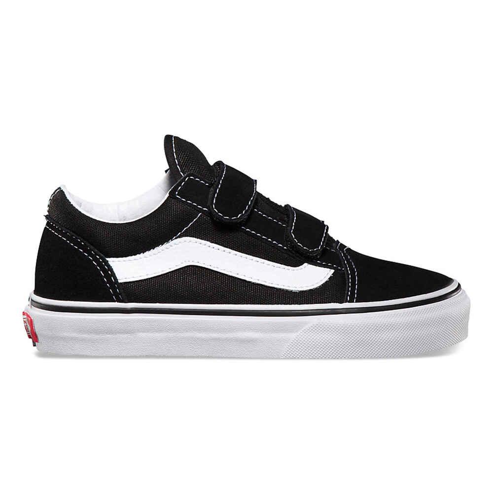 052698ad54c7 VANS KIDS OLD SKOOL VELCRO SHOE- BLACK  TRUE WHITE - Footwear-Youth Shoes    Sequence Surf Shop - VANS W18