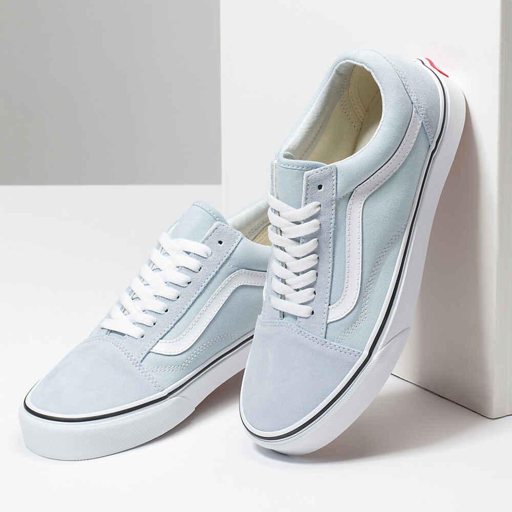 pretty cheap new arrive unique design VANS OLD SKOOL SHOE - BLUE FLOWER / TRUE WHITE - Footwear-Shoes ...