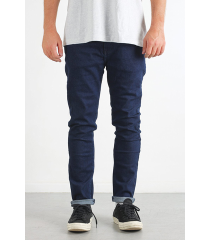 LOWER MENS LEANER JEAN - INDIGO / WHITE TEEF