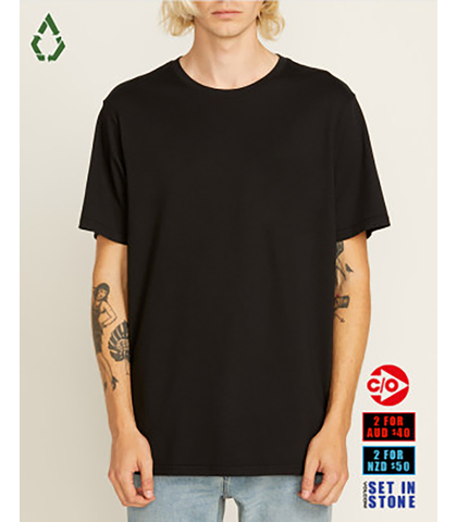VOLCOM MENS SOLID S/S TEE - BLACK