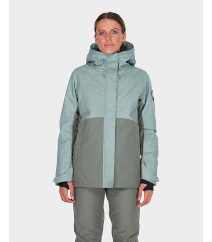BILLABONG LADIES SIENNA SNOW JACKET - AGAVE
